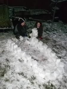 Aidan and Megan's igloo