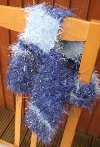 Isla's sparkly scarf