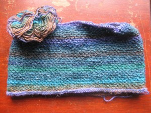 Noro Honey Cowl - almost there